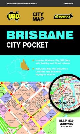 Image for Brisbane City Pocket : City Map 460 Edition 23