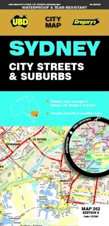Image for Sydney City Streets and Suburbs : City Map 262 Edition 8 (waterproof)