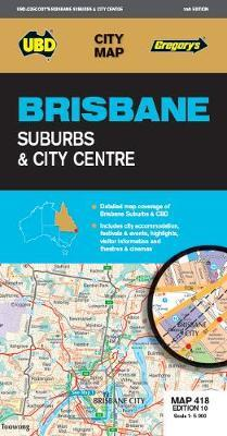 Image for Brisbane Suburbs and City Centre : City Map 418 Edition 10