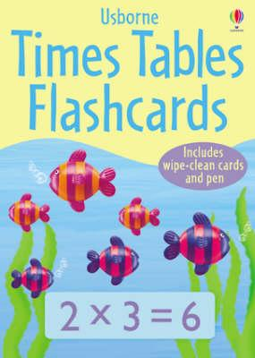 Image for Usborne Times Tables Flashcards : 100 wipe-clean cards and a pen