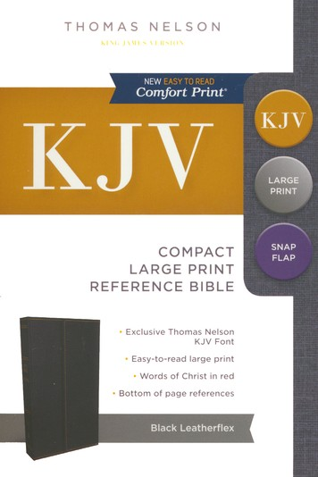 Image for KJV Compact Large Print Reference Bible : Red Letter Edition [Black Leatherflex Cover]