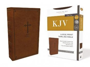 Image for KJV Thinline Bible, Large Print, Red Letter Edition [Chestnut Brown]