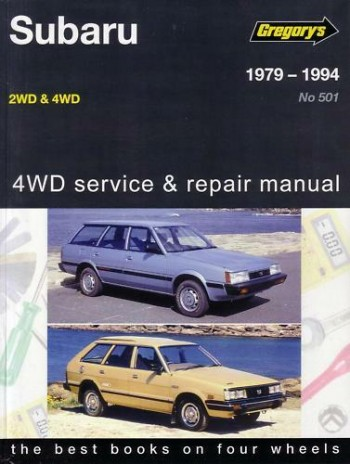 Image for Subaru 1979-1994 2WD and 4WD 1600cc and 1800cc Gregory's Service and Repair Manual 501