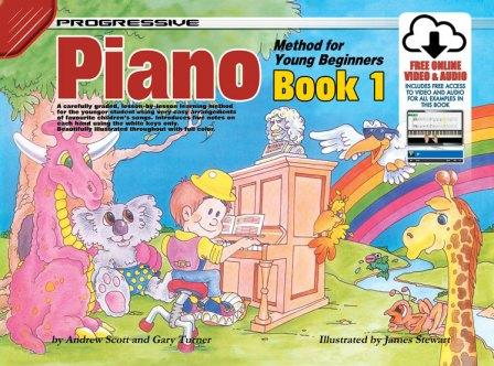 Image for Progressive Piano Method for Young Beginners Book 1 [Free Online Video and Audio]