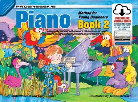 Image for Progressive Piano Method for Young Beginners Book 2 [Free Online Video and Audio]