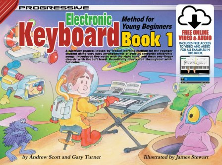 Image for Progressive Electronic Keyboard Method for Young Beginners Book 1 (Includes free Online Video and Audio)