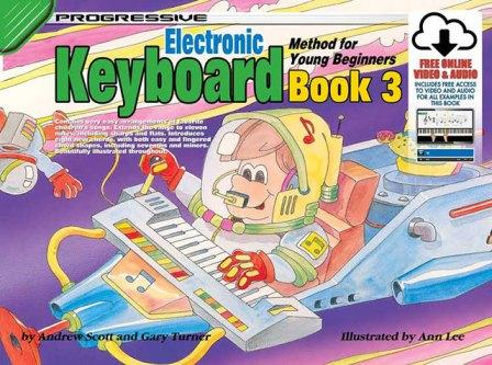 Image for Progressive Electronic Keyboard Method for Young Beginners Book 3 (Includes free Online Video and Audio)