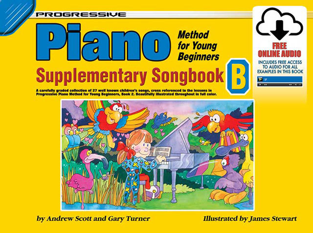 Image for Progressive Piano Method for Young Beginners Supplementary Songbook B Book [With Free Online Audio]