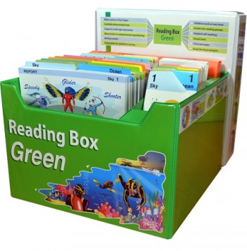 Image for Reading Box Green : 144 full colour laminated cards spread over 12 levels 22 to 36 [Years 5 to 8]