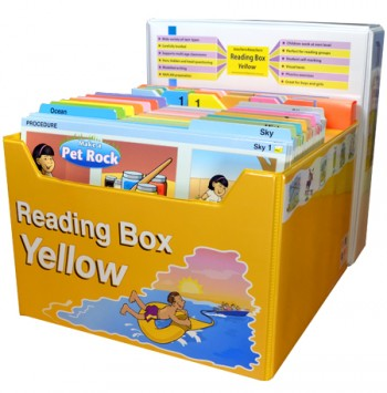 Image for Reading Box Yellow : 150 full colour laminated cards spread over 15 levels 6 to 27+ [Years 1 and 2]
