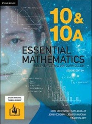 Image for Essential Mathematics for the Australian Curriculum Year 10 & 10A Second Edition (print and interactive textbook powered by HOTmaths)
