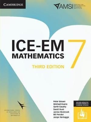 Image for ICE-EM Mathematics Year 7 Third Edition (print and interactive textbook powered by Cambridge HOTmaths)