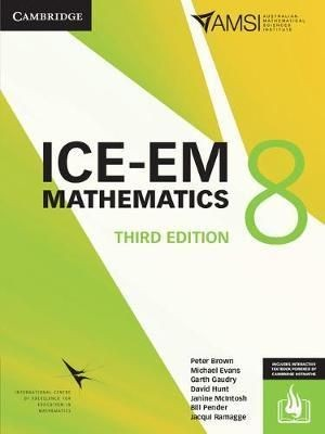 Image for ICE-EM Mathematics Year 8 Third Edition (print and interactive textbook powered by Cambridge HOTmaths)