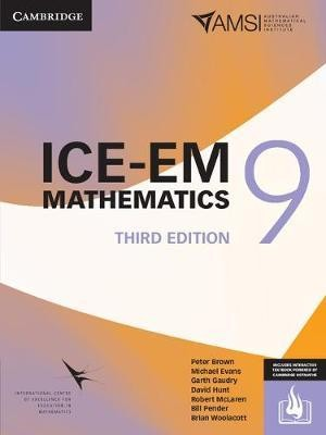 Image for ICE-EM Mathematics Year 9 Third Edition (print and interactive textbook powered by Cambridge HOTmaths)