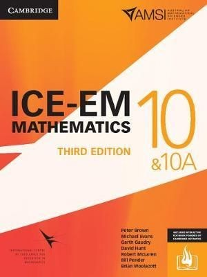 Image for ICE-EM Mathematics Year 10 & 10A Third Edition (print and interactive textbook powered by Cambridge HOTmaths)