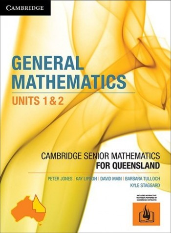 Image for Cambridge General Mathematics Units 1&2 for Queensland (print and interactive textbook powered by Cambridge HOTmaths)