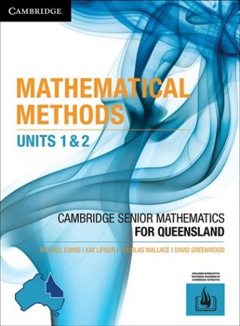 Image for Cambridge Mathematical Methods Units 1&2 for Queensland (print and interactive textbook powered by Cambridge HOTmaths)