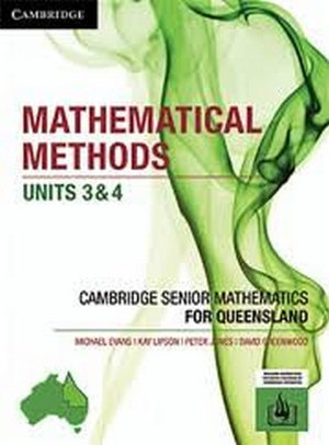Image for Cambridge Mathematical Methods Units 3&4 for Queensland (print and interactive textbook powered by Cambridge HOTmaths)