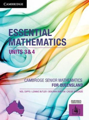 Image for Cambridge Essential Mathematics Units 3&4 for Queensland (print and interactive textbook powered by Cambridge HOTmaths)