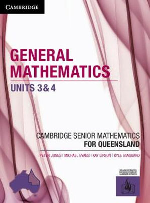 Image for Cambridge General Mathematics Units 3&4 for Queensland (print and interactive textbook powered by Cambridge HOTmaths)