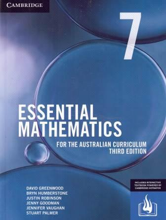 Image for Essential Mathematics for the Australian Curriculum Year 7 [Third Edition] (print and interactive textbook powered by HOTmaths)