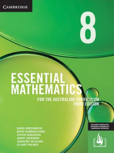 Image for Essential Mathematics for the Australian Curriculum Year 8 [Third Edition] (print and interactive textbook powered by HOTmaths)