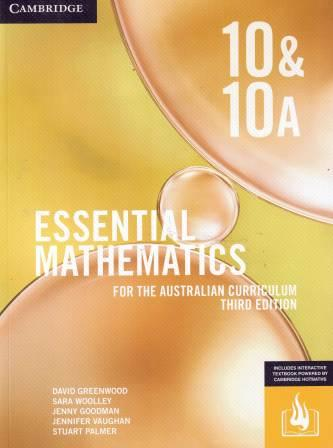Image for Essential Mathematics for the Australian Curriculum Year 10&10A [Third Edition] (print & interactive textbook powered by HOTmaths)
