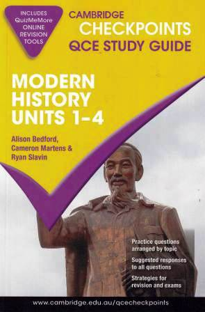 Image for Cambridge Checkpoints QCE Study Guide : Modern History Units 1-4