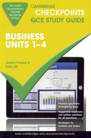 Image for Cambridge Checkpoints QCE Study Guide : Business Units 1-4