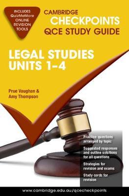 Image for Cambridge Checkpoints QCE Study Guide : Legal Studies Units 1-4