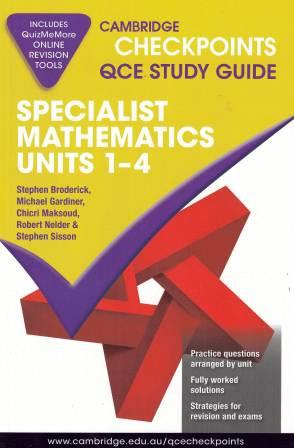 Image for Cambridge Checkpoints QCE Study Guide : Specialist Mathematics Units 1-4
