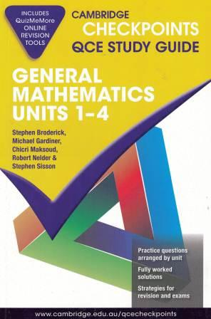 Image for Cambridge Checkpoints QCE Study Guide : General Mathematics Units 1-4