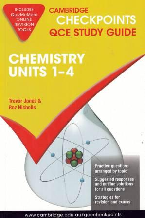 Image for Cambridge Checkpoints QCE Study Guide : Chemistry Units 1-4