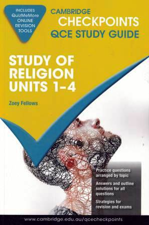 Image for Cambridge Checkpoints QCE Study Guide : Study of Religion Units 1-4