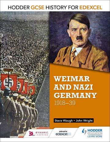 Image for Hodder GCSE History for Edexcel : Weimar and Nazi Germany 1918-1939