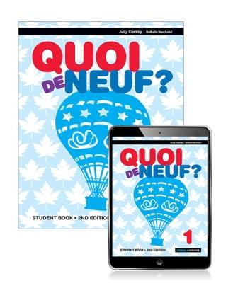 Image for Quoi de neuf ? 1 Student Book with eBook [Second Edition]