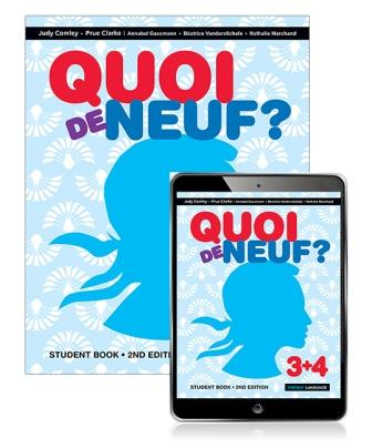 Image for Quoi de Neuf ? 3+4 Student Book with eBook [Second Edition]