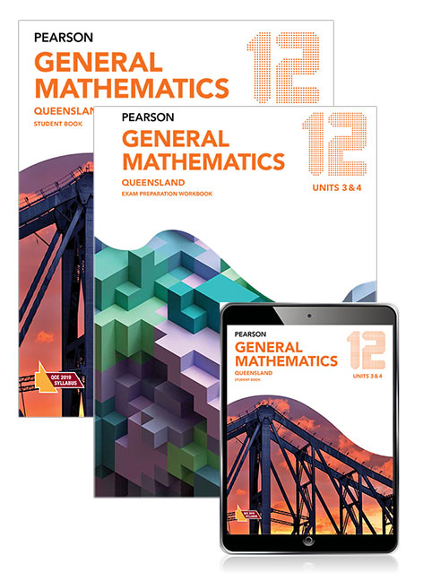 Image for Pearson General Mathematics Queensland 12 Exam Preparation Workbook and Student Book with eBook Combo Pack