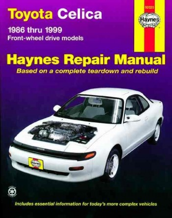Image for Toyota Celica Front-Wheel Drive 1986-1999 Haynes Repair Manual 92020
