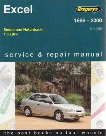 Image for Hyundai Excel 1986-2000 Sedan and Hatchback 1.5L Service and Repair Manual 04285