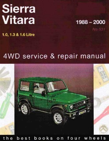 Image for Suzuki Sierra Vitara 1988-2000 1.0, 1.3 and 1.6 Litre 4WD Service and Repair Manual 05531