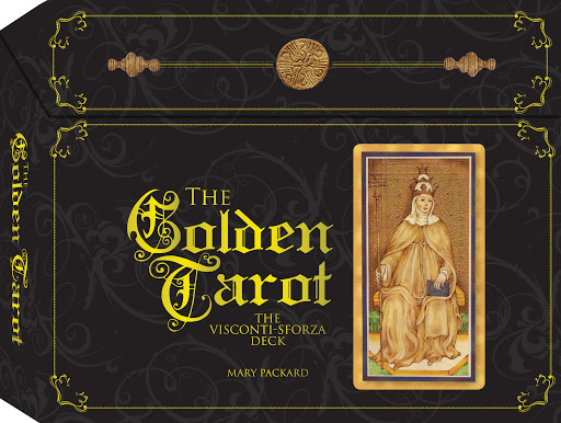 Image for The Golden Tarot : The Visconti-Sforza Deck [Kit contains 78 Tarot Cards, 144-page Book, Purple Satin Tarot Cloth, Velvet storage pouch and Elegant Storage Box]