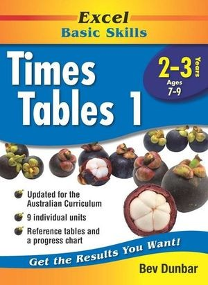 Image for Excel Basic Skills : Times Tables 1 Years 2-3 (Ages 7-9)