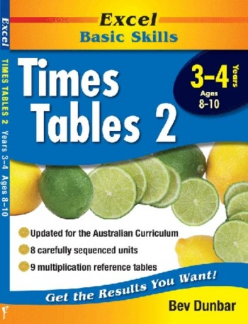 Image for Excel Basic Skills : Times Tables 2 Years 3-4 (Ages 8-10)