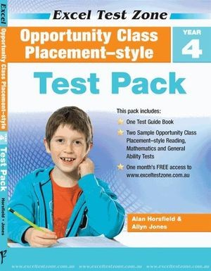 Image for Excel Test Zone : Opportunity Class Placement-style Test Pack Year 4