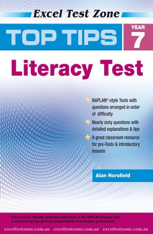 Image for Excel Test Zone : Top Tips NAPLAN-style Literacy Test Year 7