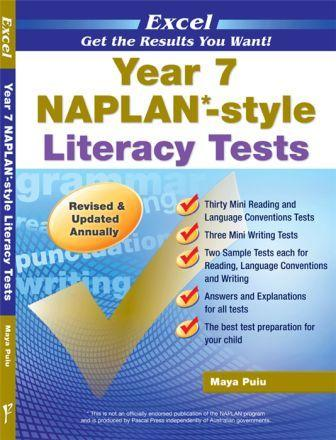 Image for Excel Year 7 NAPLAN-style Literacy Tests