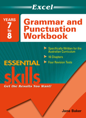Image for Excel Essential Skills : Grammar and Punctuation Workbook Years 7 to 8