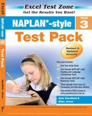 Image for Excel Test Zone : NAPLAN Style Year 3 Test Pack