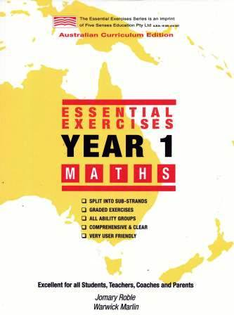 Image for Essential Exercises Year 1 Maths : Australian Curriculum Edition